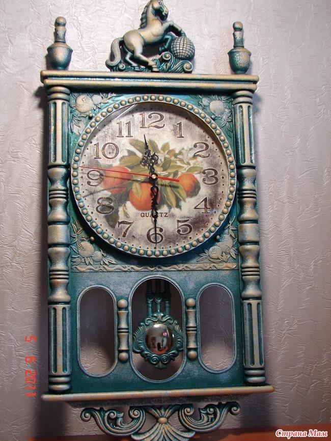 Настенные часы старинные своими руками 24
