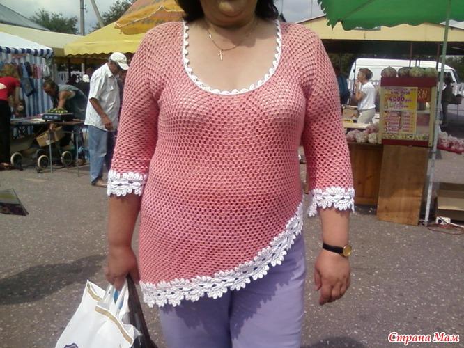 Вязание летних кофточек на полных женщин
