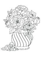 Корзина цветы рисунок карандашом