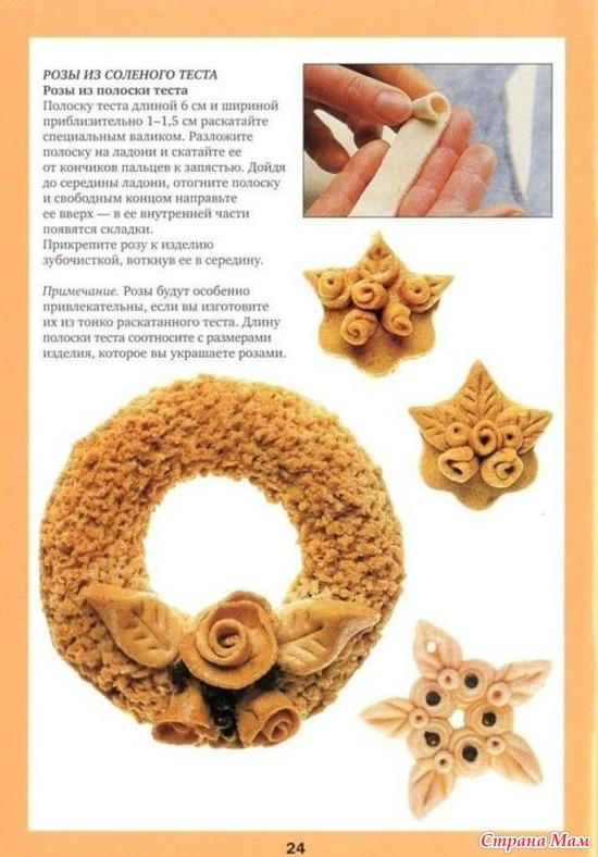 Соленое тесто рецепт для тонких поделок
