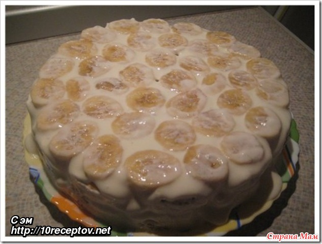торт банановый экспрес с фото