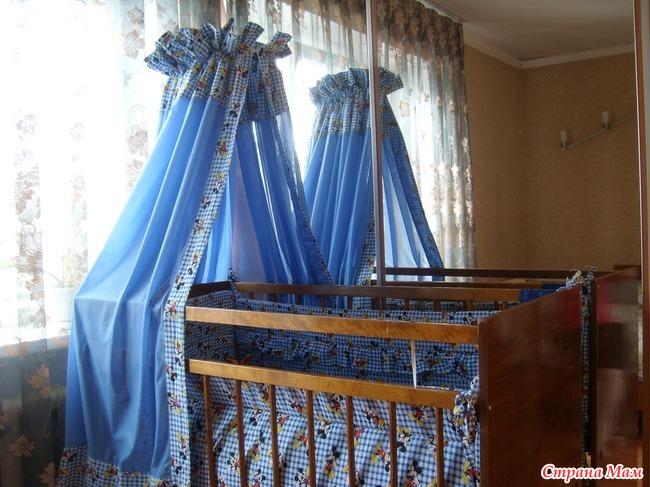 Как сшить своими руками балдахин в кроватку