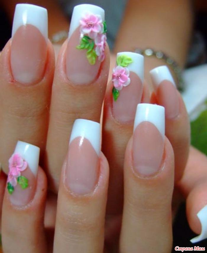 Фото ногтей нарощенных акрилом ногтей