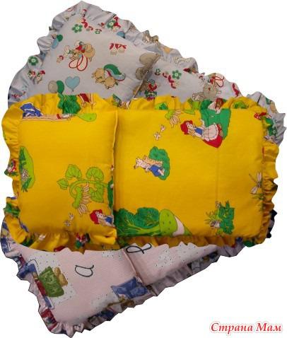Сшить подушку в коляску