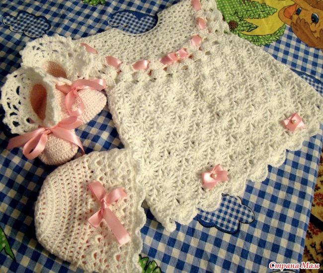Вязание для новорожденных летние 80