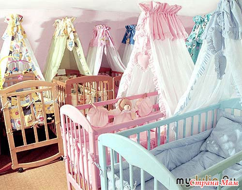 Фото балдахина на детскую кроватку 180