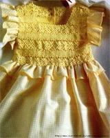 Кокетка для комбинированного платья (крючок)