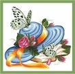 Marry. вышивки.  Схема вышивка крестом.  Бабочки.  Добавлено: 23 сентября, 12:48.