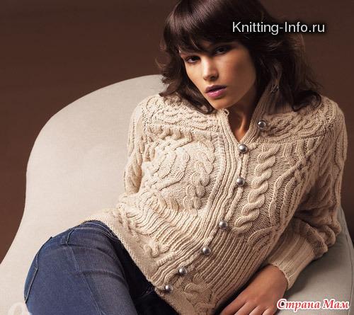 Вязание кофты для девочки