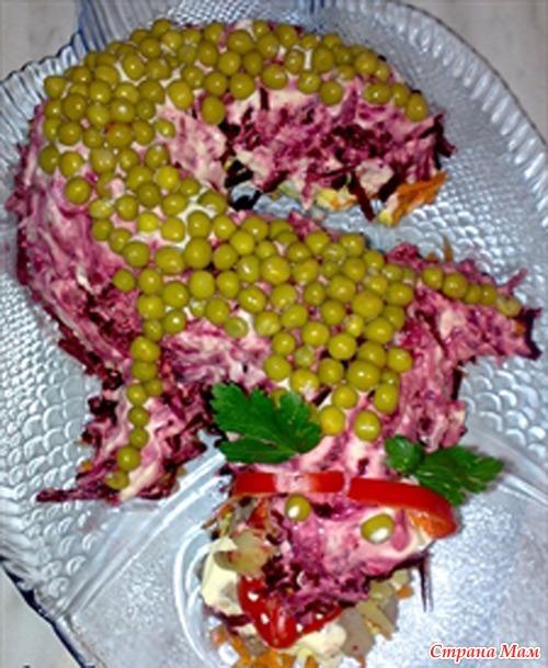 Салат в форме дракон фото