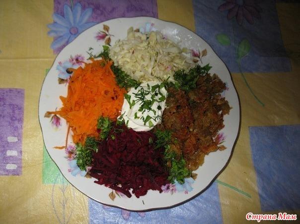 Жареный салат из картошки
