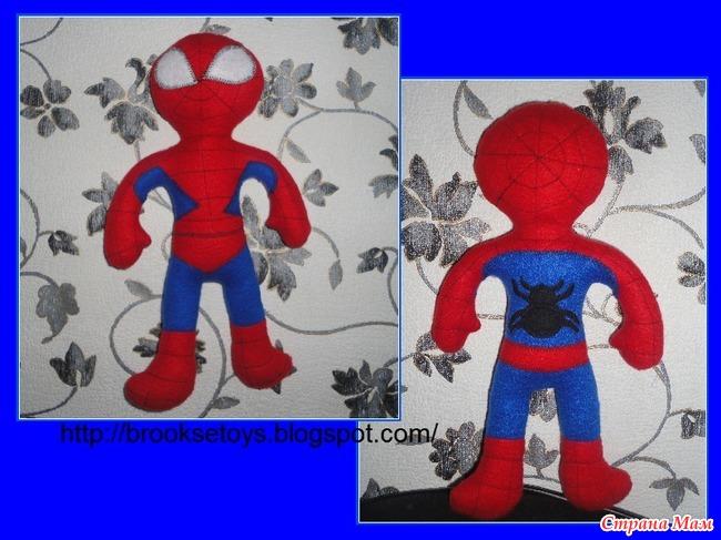 Человек паук выкройка игрушки