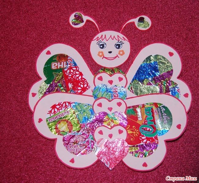Детские поделки своими руками из фантиков от конфет