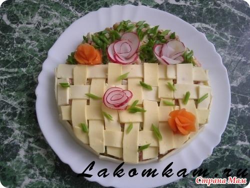 Фото оформление салатов с пояснениями