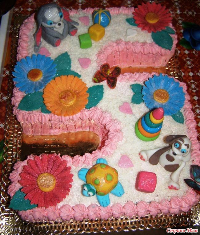 Торт на пять лет девочке своими руками 12