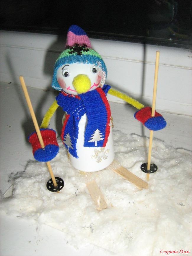 Как сделать снеговика из пластиковых бутылки - Bjj66.ru