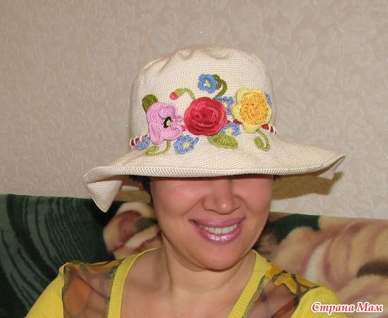 Чем украсить вязаную шляпку