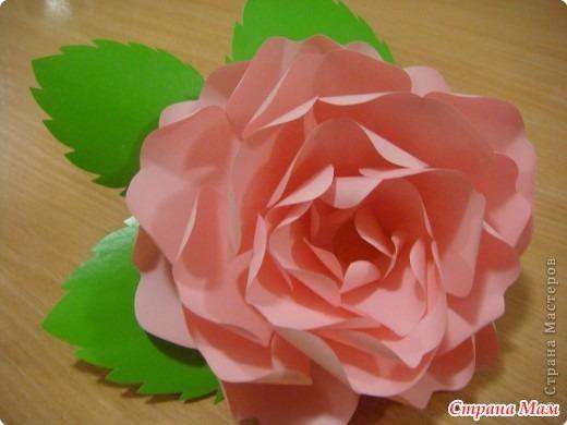 Как сделать розу для мамы из бумаги