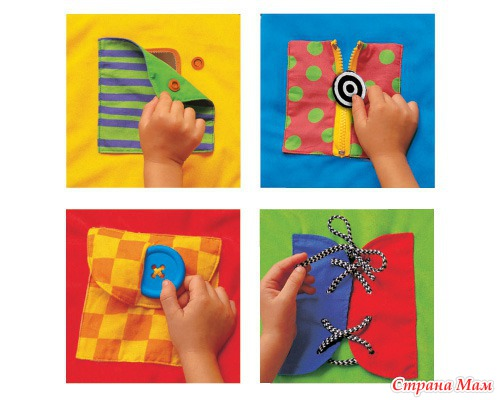 Развивающие книги для детей до 1 года своими руками