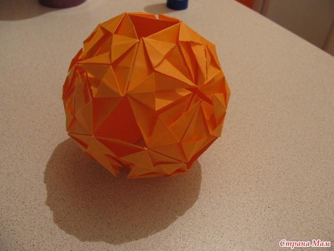 Оригами шарики из бумаги своими руками 2
