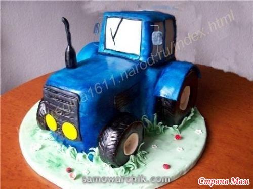 Фото торта трактора