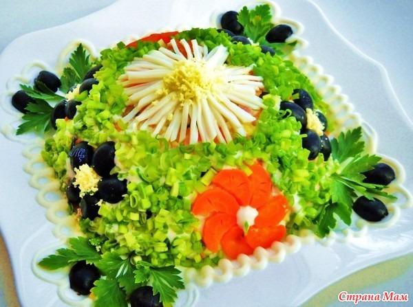 украшение салатов к праздникам фото