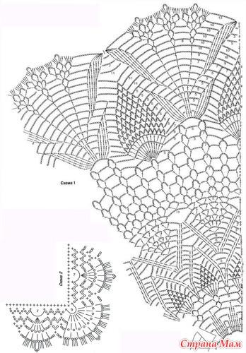 Схема шали-пелерины
