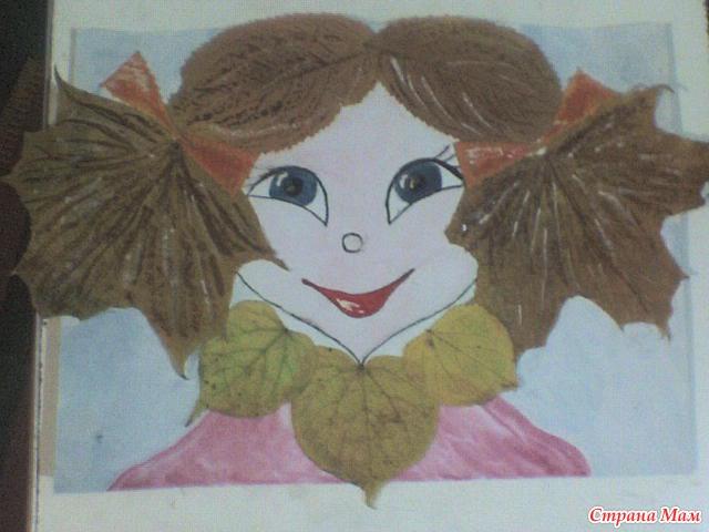 Детские поделки с осеннего материала с фото 48