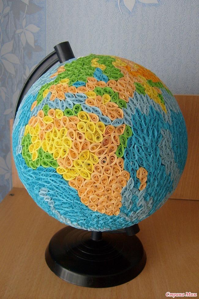 Как сделать глобус из шарика