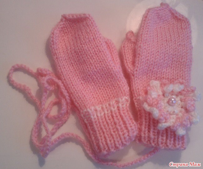 Вязание спицами рукавичек для девочек
