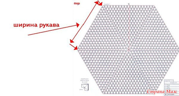 Как связать кардиган из шестиугольников крючком пошагово