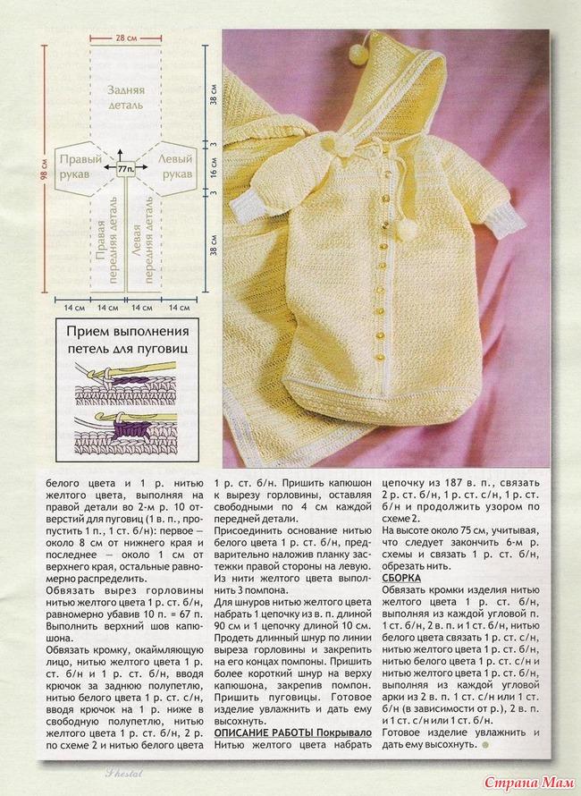 Вязание конверт для новорожденного своими руками мастер класс