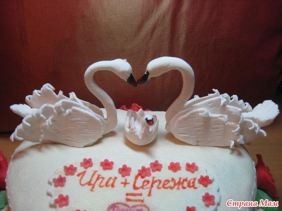 Как сделать лебедя для торта с фото
