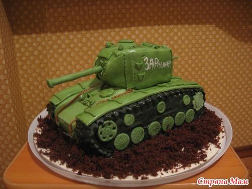 Рецепт торта в виде танка с пошагово