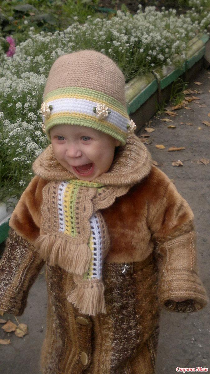 Описания детских вязанных пальто