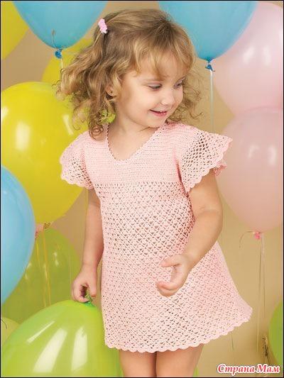 Вязанные платья для девочки