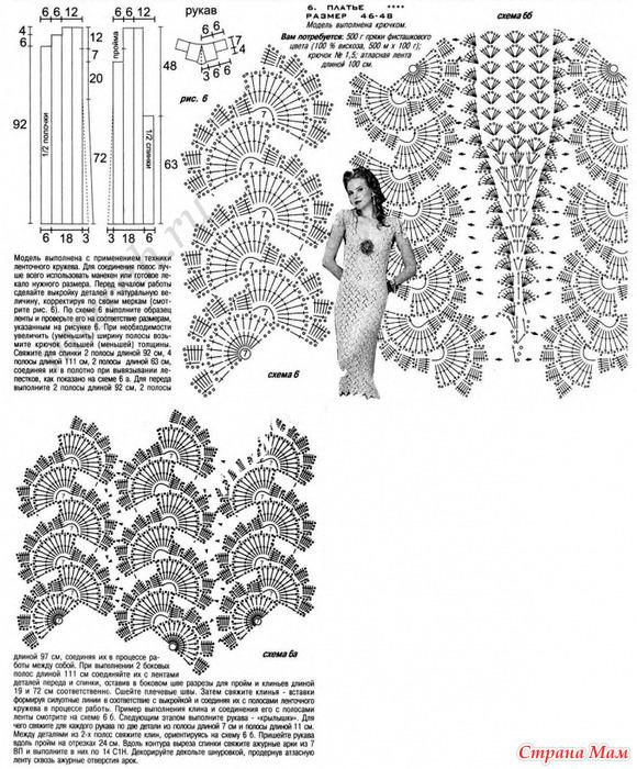 схемы ленточное кружево