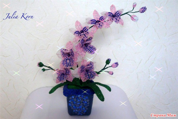 Орхидея из бисера мк для колье