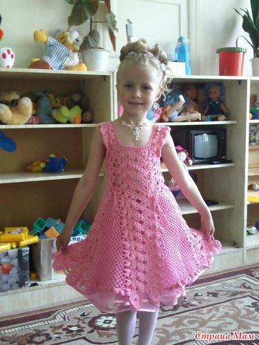 Связать крючком выпускное платье в детский сад