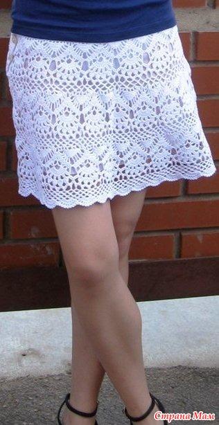 схемы ажурной юбки: