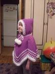 Вязание спицами пончо для девочек 3-5 лет 89
