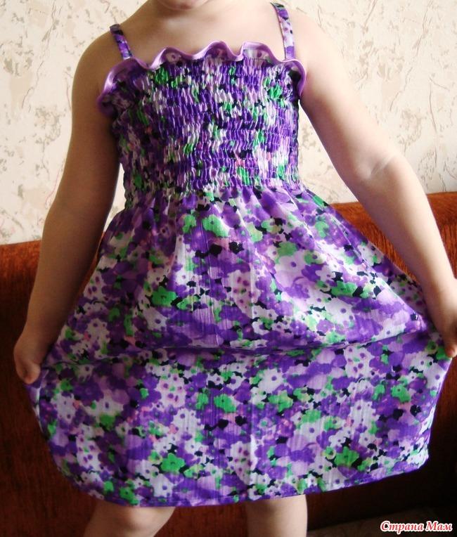 Платье резинка для девочек как сшить 988