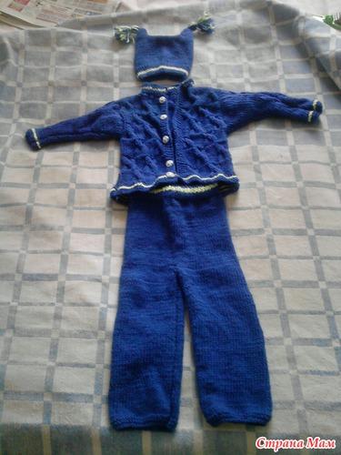 Вязание костюма для мальчика на 1 98