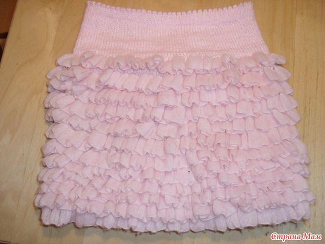 Детская юбка из ленточной пряжи мастер класс - Раум Профи