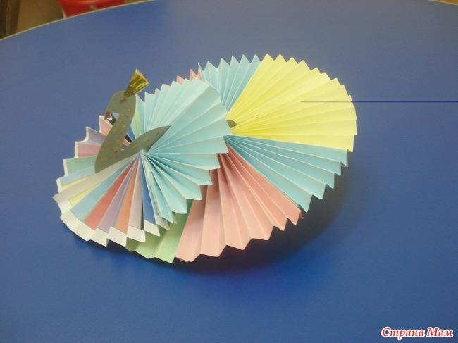 Поделки павлин из бумаги