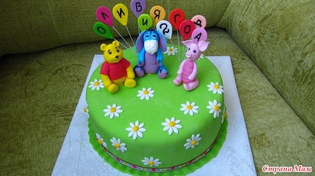 Заказные торты с детской тематикой фото