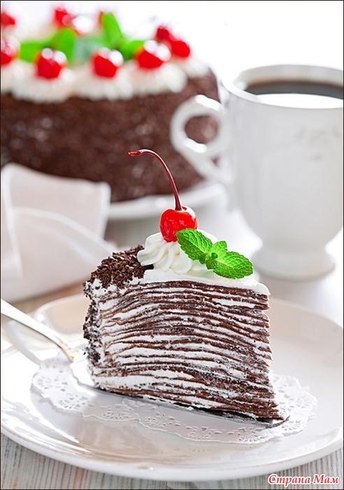 Торт из шоколадных блинчиков рецепт