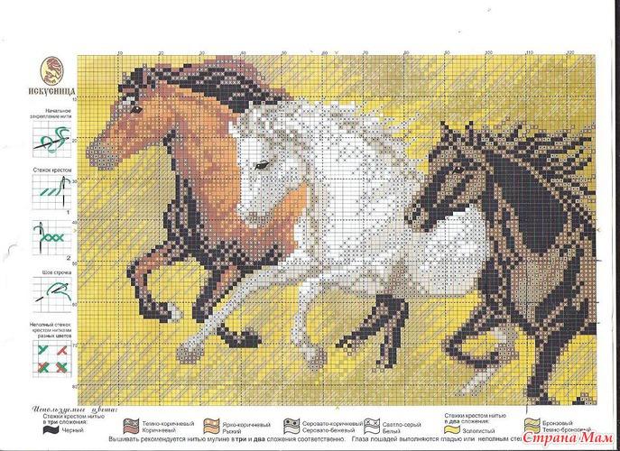 Лошади (схема)