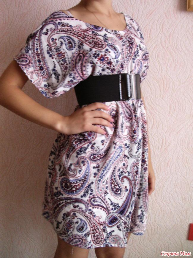 Платье с двумя швами своими руками 70