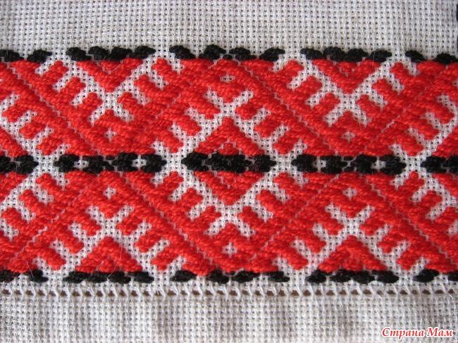 Схема вышивки набором